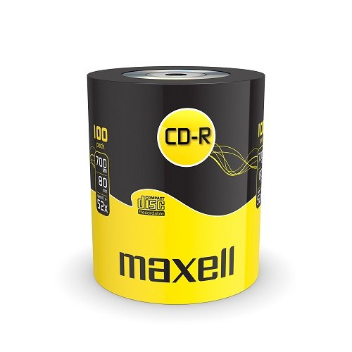 Maxell Eco-Pack CD-R Rohlinge (80Min, 700MB, 52x Speed, 100-er Pack)