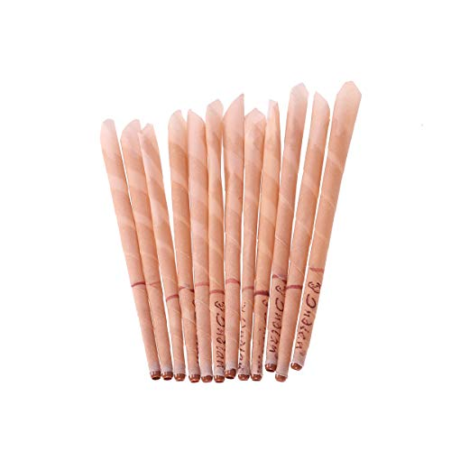 Healifty 12Pcs Beeswax Candling Cones Ear Wax Candle Removal Kit