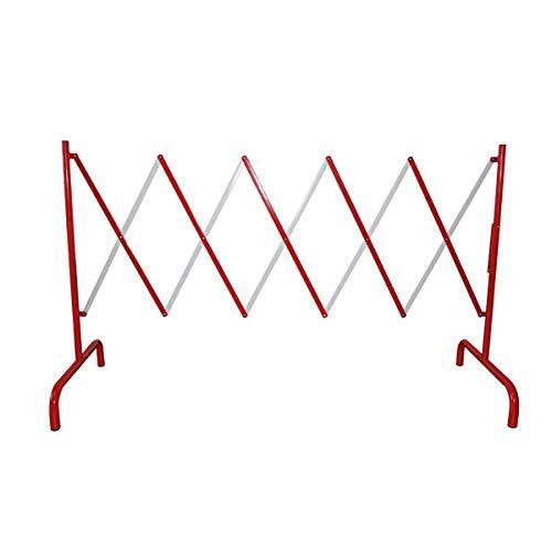 Betriebsausstattung24® Stahl Scherensperre Scherengitter | ROT/WEIß | Höhe: 1,0 m | ausziehbar bis 2,8 m | Rohrdurchm. 25 mm | Stahl | pulverbeschichtet