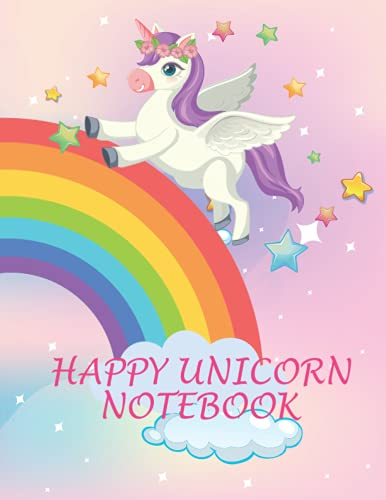 happy unicorn notebook: 8.5*x11 inch; 21.59x27.94cm 120 pages
