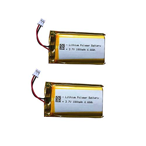 3.7v 1800mAh LiPo Battery Lip1859 for Sony PS3 Controller Battery Replacement, fits CECHZC2E CECHZC2U Controller and Playstation Gold Wireless Headset Battery Replacement (Lip1859 2Pack)