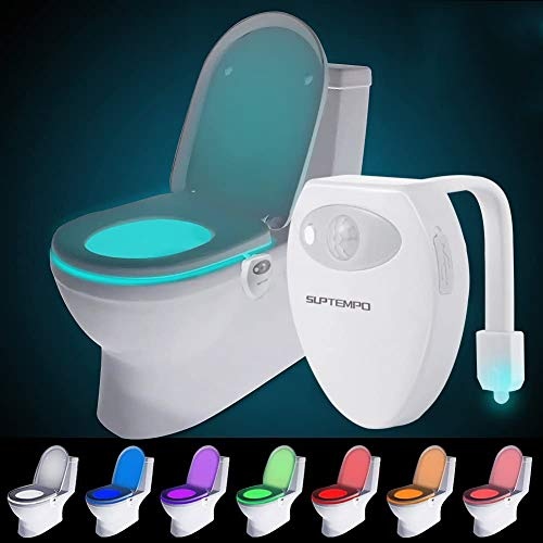 Wiederaufladbare Toilettenlicht mit Bewegungssensor WC Nachtlicht LED Toilette Licht Lampe