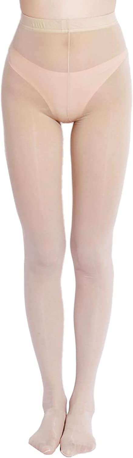YONGHS Women's Control Top Pantyhose Compression Ultra Thin Sheer Footed Tights Silk Stockings