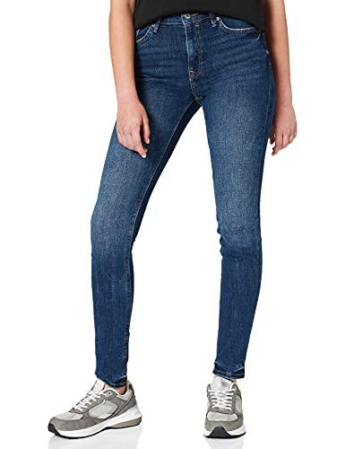 edc by ESPRIT Damen 031CC1B317 Jeans, 901/BLUE Dark WASH, 33/32