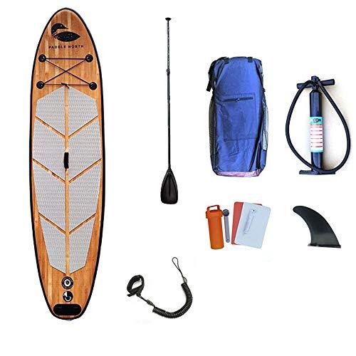 JDDSA Aufblasbares Stand Up Paddle Board | 320cm L x 80cm W x 15cm H | Premium Surfboard Wassersport | SUP | Touren & Yoga SUP | Komplettes Zubehör | 200kg