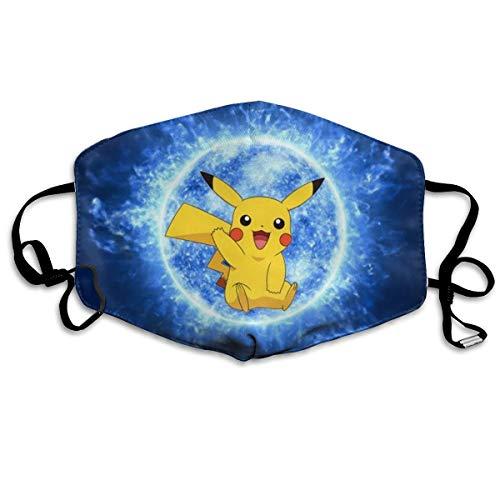 Lncsdk Aeuv Pokemon Pikachu Nahtloser Filterschal Bandana Gesichtsschutz wiederverwendbar Staubdicht