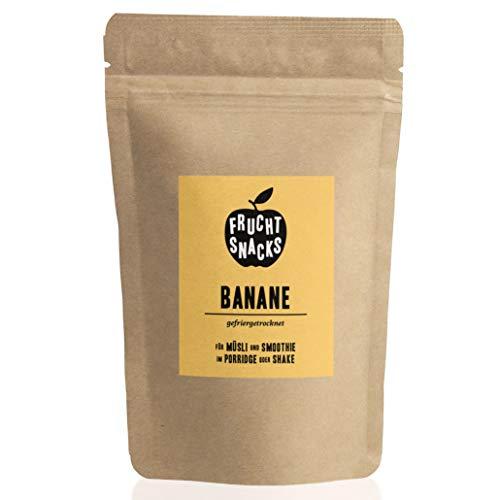 Gefriergetrocknete Früchte: 100g Bananen gefriergetrocknet ohne Zucker Zusatz für Smoothie Bowl, Müsli, Porridge Topping – Gefriergetrocknete Bananen Chips – Obst gefriergetrocknet von NutriPur