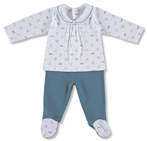 Babidu 54235, Conjunto de Ropa Interior Unisex bebé, Azul (Celeste 001), 50 (Tamaño del Fabricante: 0)