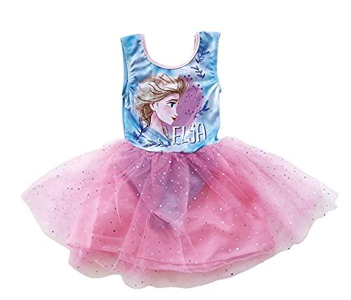 Disney Frozen 2 Disfraz de Ballet para Niñas, Diseño Falda Tul Tutú en 3D, Vestido de Princesa, Regalo para Niñas, 4 a 8 Años (8 Años, 8_Years)