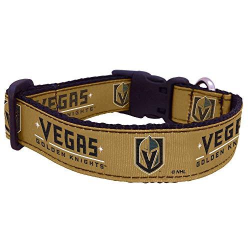 All Star Dogs NHL Vegas Golden Knights 655257719146 Sports Fan Pet Collars, Vegas Gold, Medium