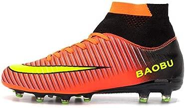 Nike JR SFLY 6 Academy GS CR7 FG/MG Boys Soccer-Shoes AJ3111-600_5.5Y - Bright Crimson/Black-Chrome-Dark Grey