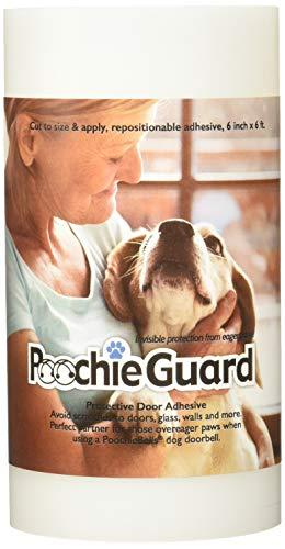 PoochieBells Film Transparent Protecteur Léger Invisible pour Protéger Porte/Barrière/Rampe pour Chien