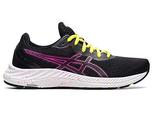ASICS Women's Gel-Excite 8 Running Shoes, 7.5, Black/HOT Pink