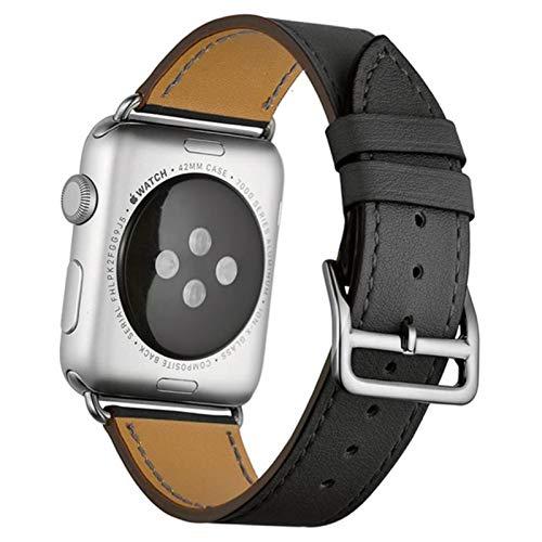 Correa de cuero de vaca para Apple Watch 5 bandas 44 mm iwatch Series 4 3 2 1 accesorios de reloj 42 mm lazo 38 mm pulsera Reemplazo 40 mm