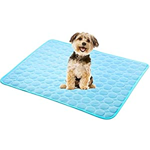 Dog Cooling Mat Pet Cooling Pads Dog Self Cooling Mat Waterproof Bottom Blanket Pad Bed Kennel Mat for Dogs Cats Animal Floors Car Seats Ice Sleep Cushion