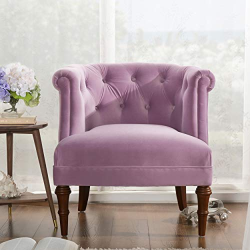Jennifer Taylor Katherine Tufted Accent Chair, Large, Lavender