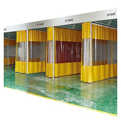 AWSAD Autolavaggio Trasparente Tenda Impermeabile Balcone A Prova di Polvere Panno Antipioggia PVC Tenda Divisoria Multiuso, 28 Taglie (Color : Yellow, Size : 3x3m)