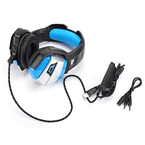 LG Snow Retráctil Gaming Headset con Reducción De Ruido del Micrófono, Auricular De 3,5 Mm con Cable De Ordenador Resplandor, Soporte Ordenadores/Ordenador Portátil/Tablet PC/PSP, Conveniente Fo