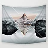 Comwarm Mysterious Splendid Mountain Natural Scenery Tapestry Polyester Wall Art Hanging Gobelin Modern Bedroom Home Decor 150 * 130cm
