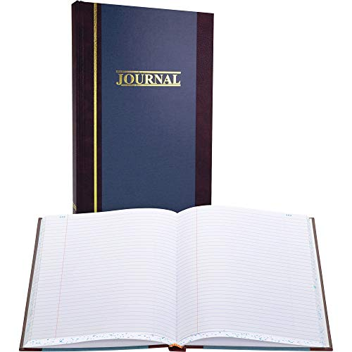 Wilson Jones Record Book, 11-3 4  x 7-1 4 , Ruled, 300 Pages, 35 Lines, S300 (WS300-3RA), Blue, White