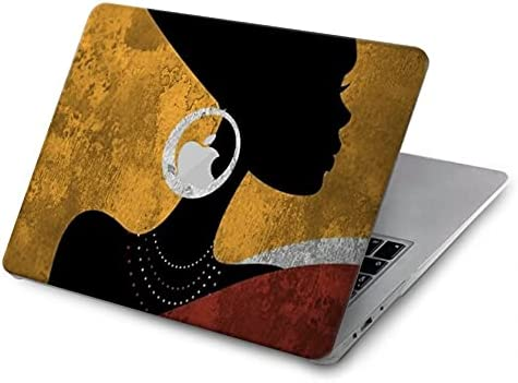 Baltimore Mall R3453 African Queen Year-end gift Nefertiti Silhouette Cover for MacBook Case