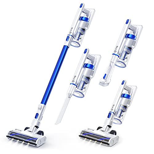 YTE Cordless Stick Vacuum Cleaner, 15KPa Powerful Suction Up to 45 Mins Runtime, 6-in-1 Lightweight Handheld Vaccumm-Cordless with Headlight for Home Hard Floor Carpet Car Pet Hair
