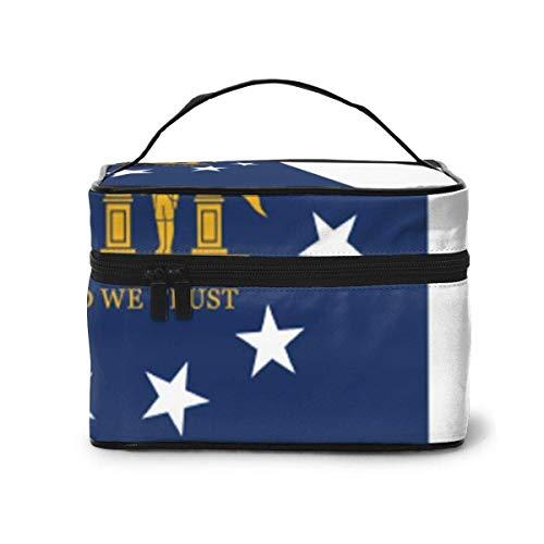 Georgia State Flag Travel Makeup Train Case Makeup Cosmetic Case Organizer Portable Artist Storage Bag