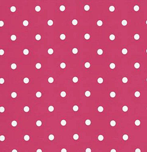 i.stHOME Klebefolie Möbelfolie - Pink Punkte weiß - Dots - 45 x 200 cm - Dekorfolie Vintage Retro Look - Selbstklebende Folie - Bastelfolie