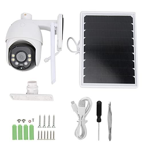 Cámara Domo 1080P, cámara CCTV para Exteriores, detección de Movimiento de Panel Solar de 8 W, cámara Domo Solar WiFi 4G, Accesorios de Seguridad para videovigilancia(4G-APN Version)