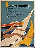 Barcelona Salon Náutique 1963 - Póster de reproducción, 50 x 70 cm, papel de lujo, 300 gr, venta del archivo digital HD posible, consulta (tienda: cartel vintage.FR)