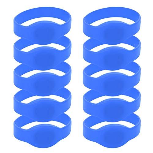 Pulsera de Silicona a Prueba de Golpes 10 Piezas, para gimnasios(Blue)