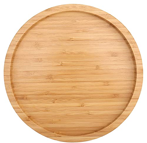 Fasmov 12 Inches Diameter Bamboo Lazy Susan Turntable