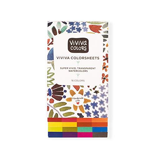 Viviva Colorsheets, Single Set, 16 Colors