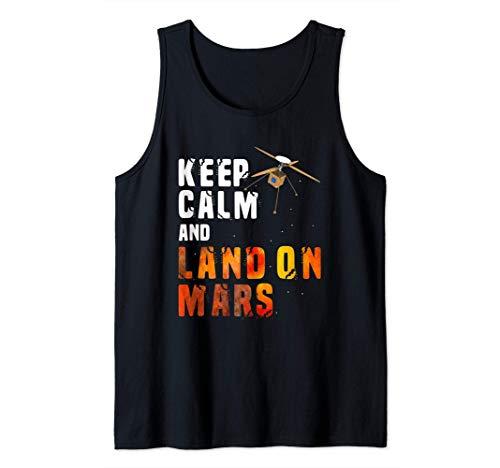 Keep Calm And Land On Mars Helicopter Ingenuity Camiseta sin Mangas