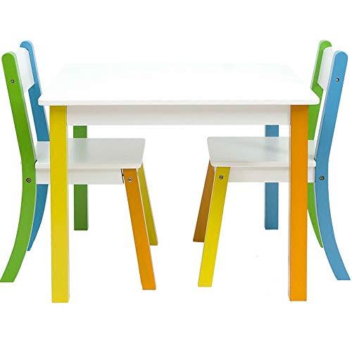 灰のネックレス キッズテーブルとチェアセットデスクアクティビティチェア幼児のための読書アート・プレイルーム子供テーブルチェアセット 素晴らしい記念品 (色 : White, Size : 60x43/54x36cm)