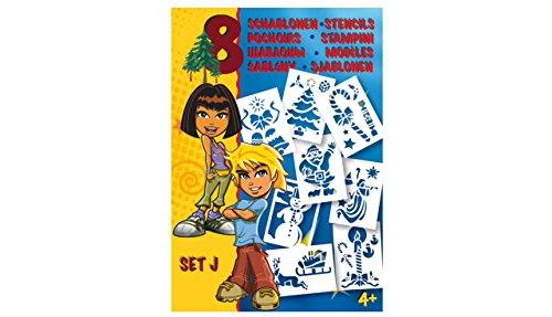 MALINOS 301006 Stifte BloPens Schablonen Set J Weihnachtsmotive