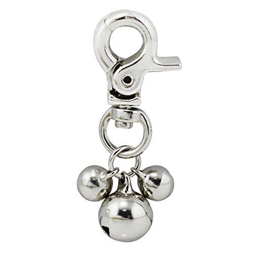 Lot de 2 pendentifs grelots pour collier de chien ou...