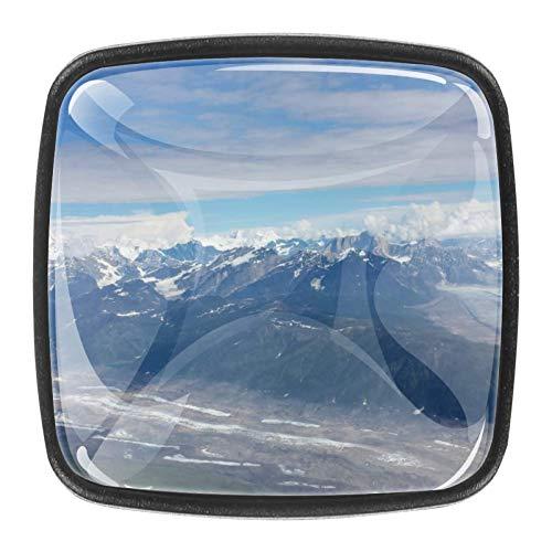 Kommode Schubladenschrank Knöpfe Kristallglas Knöpfe zieht für Küche Kleiderschrank Schrank Badezimmerschrank 4 Stk. Alaska Mountain