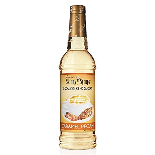 Jordan's Skinny Mixes Syrups Caramel Pecan, Sugar Free Coffee Flavoring Syrup, 25.4 Fl Oz