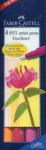 FABER-CASTELL PITT artist penna, 4er Etui - Warm Colours