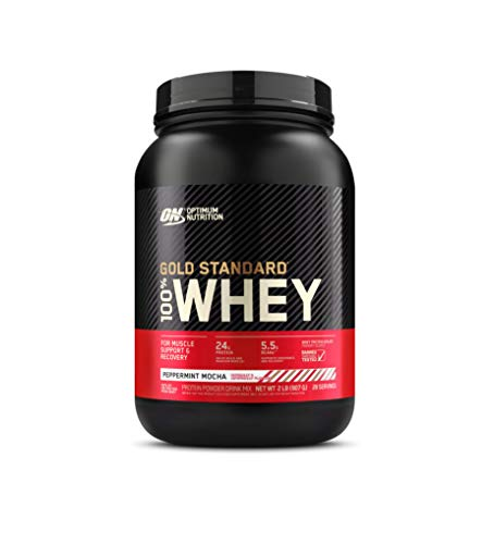 Optimum Nutrition Gold Standard 100% Whey Protein Powder, Peppermint Mocha, 2 Pound (Packaging May Vary)