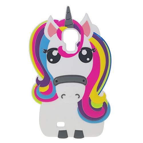 BJTRADE Funda Samsung Galaxy S4, Divertidas 3D Unicornio de Silicona Suave Animales Carcasa Antichoque Protección Anti-rasguños Resistente Bumper Fundas Case Cover para Galaxy S4 (Colorido)