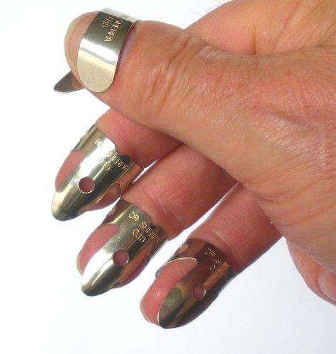 DR SHERPA Thumb Pick- / Plektron-Set für Resonatorgitarren / Banjos (Metall)