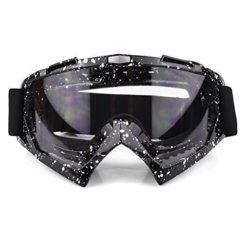 Gafas de ciclismo PC UV lente protectora a prueba de viento ajustable deportes motocicleta esquí gafas gafas