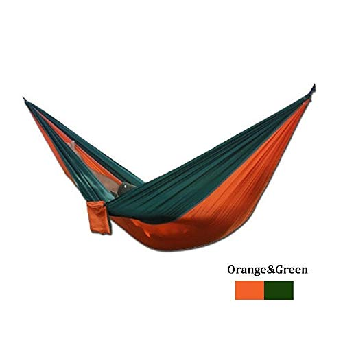 HO-TBO Portable Hammock, Upgraded Type 270x140CM Double Hammock 210T Nylon Swing Bed Max Load 250kg Multi-color Optional Versatile and Durable (Color : 3, Size : 270x140m)