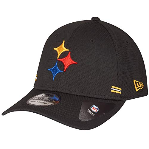 New Era NFL PITTSBURGH STEELERS Authentic 2020 Sideline 39THIRTY Stretch Fit Home Cap, Größe:S/M
