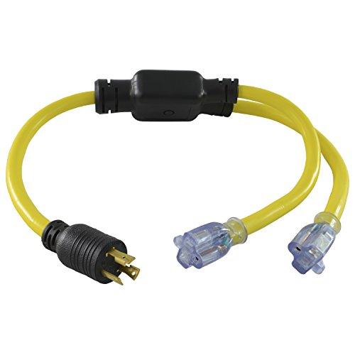 Conntek Locking Adapter with 30 Amp 125 Volt Locking Male Plug To 20 Amp Locking Female Connector