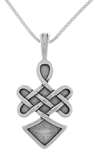 Jewelry Trends Sterling Silver Viking Warrior Spirit Celtic Pendant Chain Necklace