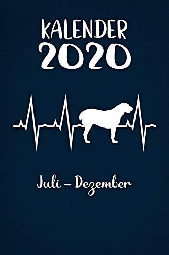 Kalender 2020: Blauer Tageskalender Alabai Herzschlag Hunde 2. Halbjahr Juli Dezember ca...