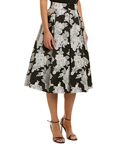 Eliza J Women's Separate Midi Skirt Dress, Black/Ivory, 12